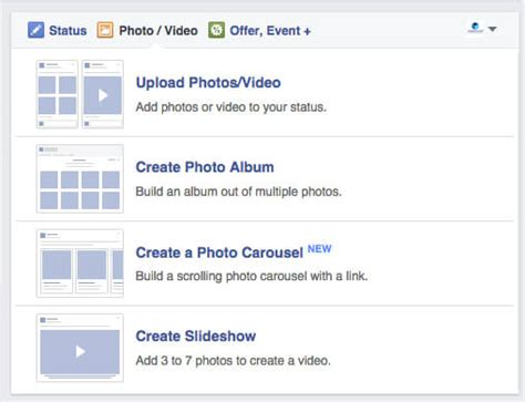 format video on facebook facebook carousel format now available for organic posts