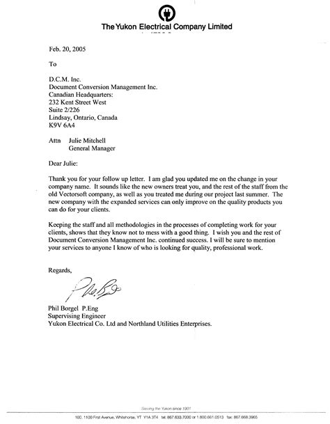 Recommendation Letter For Electrician Reference Letters Dcm Inc