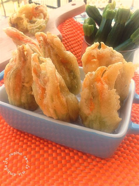 ricetta fiori di zucca fritti ripieni fiori di zucca fritti