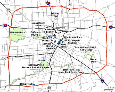 houston map inside 610 city of houston loop 610 facts