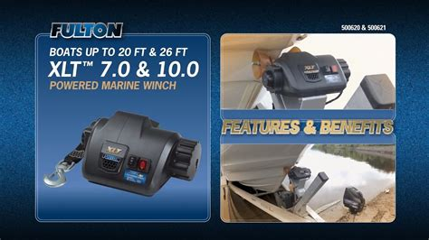 fulton boat winch xlt the fulton 174 xlt powered marine winch show your boat who