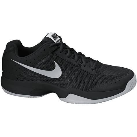nike air cage court junior tennis shoe black silver
