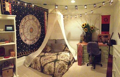 I Love The Bedspread Sunflowers String Lights Combo Bedroom Wall Tapestry