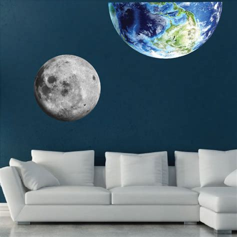 moon wall mural moon wall mural decal space wall decal murals primedecals