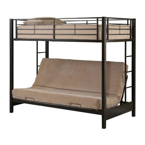 bunk bed with futon walker edison btof futon bunk bed atg stores