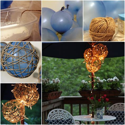 diy outdoor lanterns diy twine garden lanterns