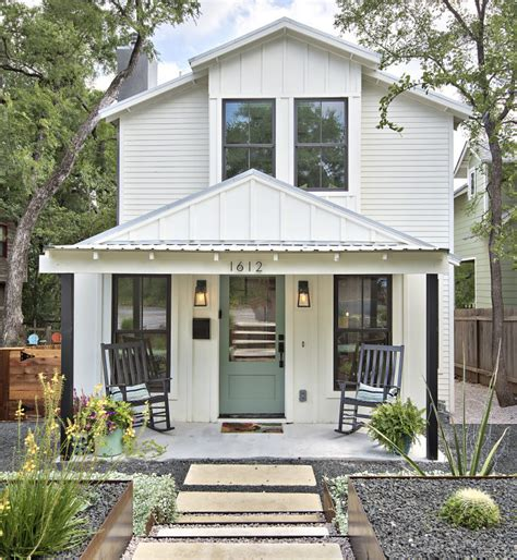 tiny farmhouse turning a tiny cottage into a two story modern farmhouse