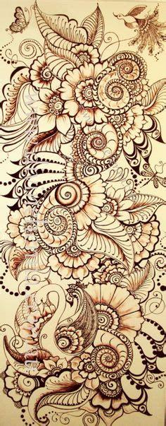 Henna Magic Brown paisley designs 4 kleurplaten paisley