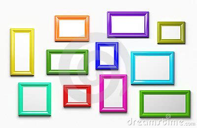 colored picture frames multicolor picture frames stock photography image 23638952