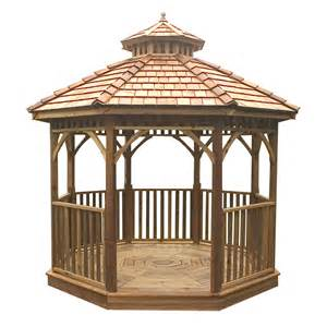 Outdoor Living Gazebo Shop Outdoor Living Today Cedar Wood Gazebo