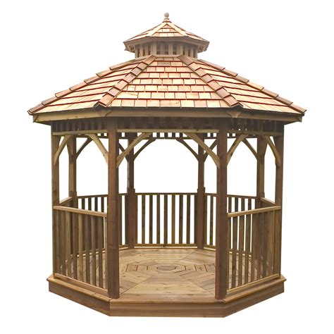 shop outdoor living today cedar wood gazebo