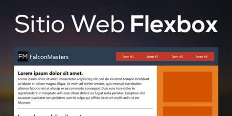 responsive layout with flexbox como hacer un sitio web layout responsive con flexbox css3