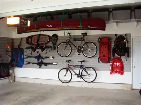 Garage Organization For Bikes Garage Mountain Bicycle White Wall Cano Cement Floor