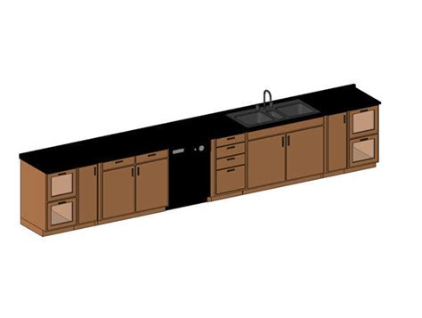 revit kitchen cabinets revitcity object granite countertop with sink and