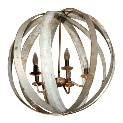 Metal Sphere Chandelier At 1stdibs Wine Sphere Chandelier