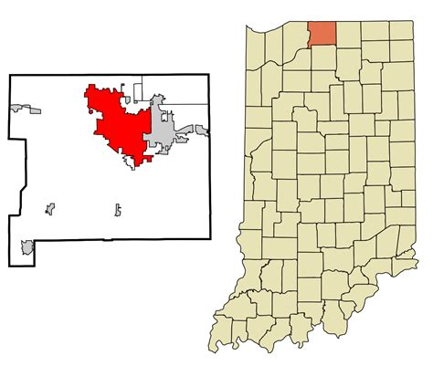 Search My County Indiana File St Joseph County Indiana Incorporated And Unincorporated Areas South Bend