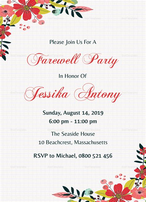 Classic Farewell Party Invitation Design Template In Word Psd Publisher Farewell Invitation Template