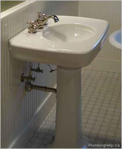 how to plumb a pedestal sink installing a pedestal sink plumbing help