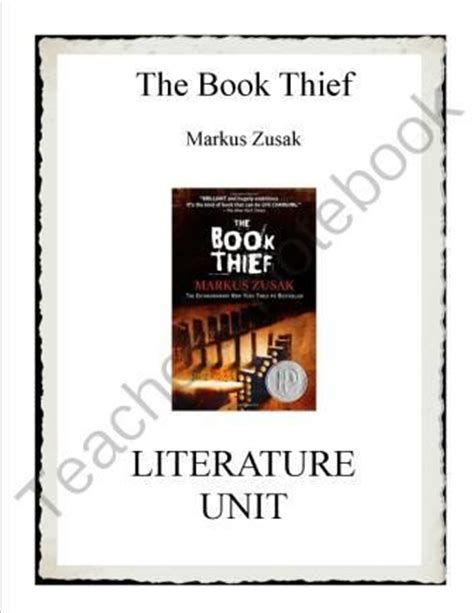 themes in book thief the book thief literature unit from