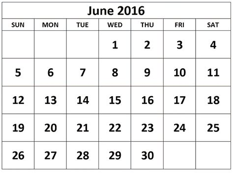 june 2016 printable calendar landscape a4 portrait