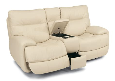 wrap around couch with recliner flexsteel latitudes evian 1447 604p power love seat with