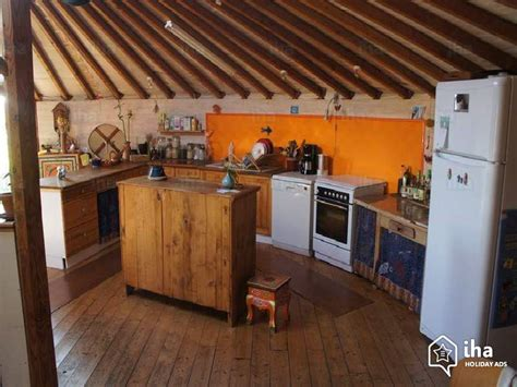 Shared Kitchen by Yurt Mongolian Tent For Rent In Plouguiel Iha 25539