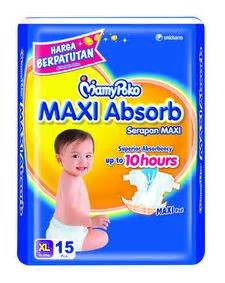 Charm Maxi Isi 10 Pads mamypoko maxi absorb baby care product information