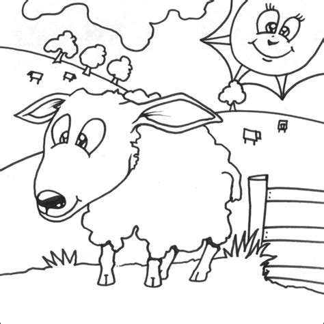 simple sheep coloring page sheep pictures to print and colour imagui