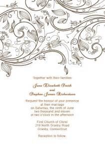 vintage invitation templates free vintage flourishes wedding invitation template wedding