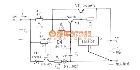 power integrated circuits 5a regulated power supply supply for ttl integrated circuit composed of lm340t integrated
