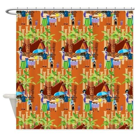 Tiki Time Shower Curtain By Highaltitudes3