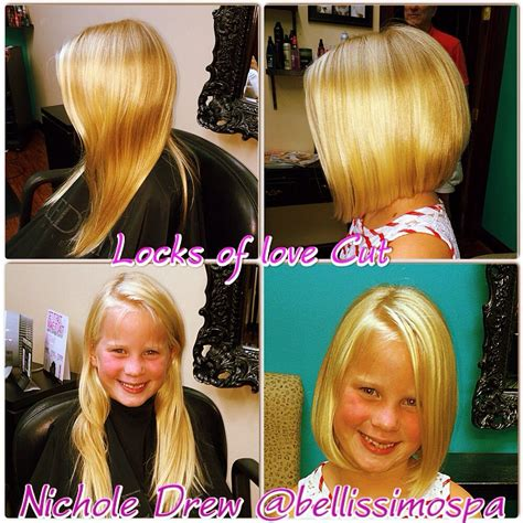 how to cut hair so it stacks locks of love before and after kids cut a cute bob with a
