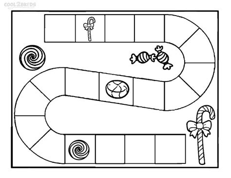 candyland board template printable candyland coloring pages for cool2bkids