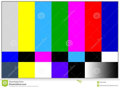 3x4m Greyscreen Broadcast Tv Quality television colored bars signal royalty free stock photos image 22940438