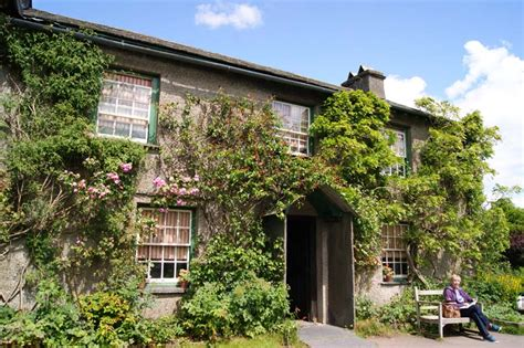 beatrix potter cottage front hill top cumbria by