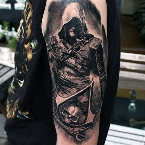edward kenway tattoos 60 assassins creed designs for ink