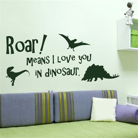 Hello Kitty Stickers For Bedroom Walls Cute Boys Dinosaur Quote Wall Sticker Art Decal Transfer