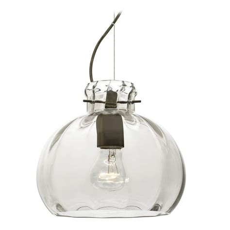 Besa Lighting Pendant Besa Lighting Pinta Bronze Pendant Light With Globe Shade