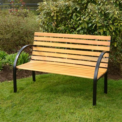 landscape bench azuma arran 3 seat garden natural hardwood bench outdoor