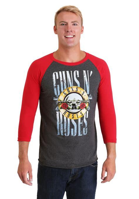 Guns N Roses Logo 4 Mens T Shirt guns n roses stack logo s raglan t shirt