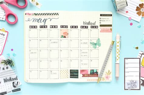 House Layout Planner planner spread monthly bullet journal pink paislee