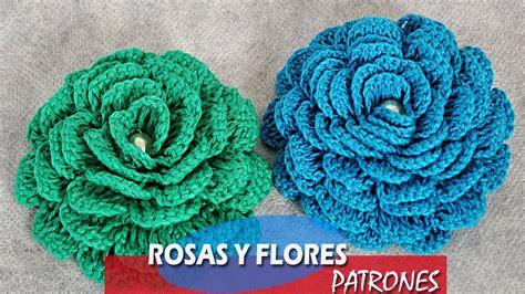 como hacer flores de crochet flor y rosas a crochet patrones youtube