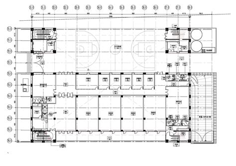 basketball gym floor plans gallery of ntfsh gymnasium qlab 36