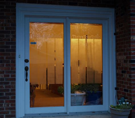 home office makeover frosted glass spray for privacy on