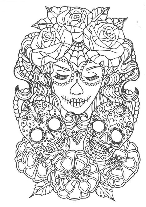 sugar skull coloring page pdf 248 best sugar skulls day of the dead coloring pages for