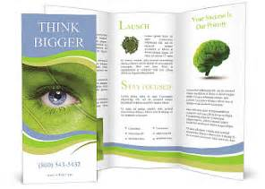 Face With Leaf Texture Brochure Template Design Id 0000009409 Smiletemplates Com Climate Change Brochure Template