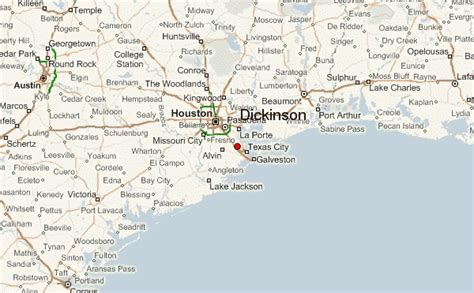 dickinson texas map dickinson location guide