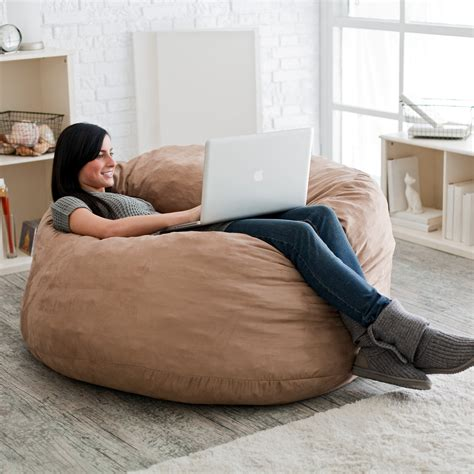 Fuf 4 Ft Micro Suede Bean Bag Sofa Bean Bags At Hayneedle