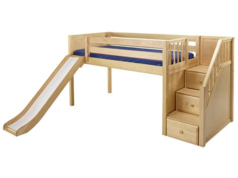 bed with a slide loft bed with slide home designs