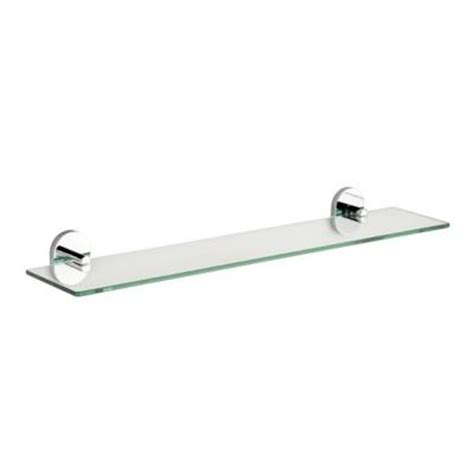 croydex pendle glass shelf in chrome qm411441yw the home depot